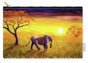 Elephant In Purple Twilight Carry-all Pouch