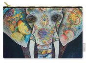 Elephant Mixed Media 2 Carry-all Pouch