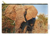 Elephant On Approach Carry-all Pouch