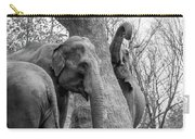 Elephant Tree Black And White  Carry-all Pouch