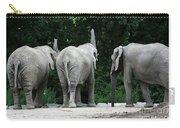 Elephant Trio Carry-all Pouch