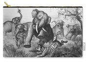 Elephants And Tiger, 1890 Carry-all Pouch