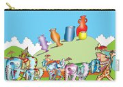 Elephants And Urns On A Hill Carry-all Pouch