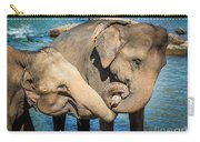 Elephants Bathing In A River Carry-all Pouch