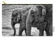 Elephants Bw Carry-all Pouch