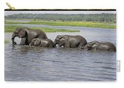 Elephants Crossing Chobe River Carry-all Pouch
