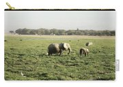 Elephants Grazing Carry-all Pouch
