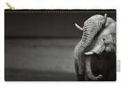 Elephants Interacting Carry-all Pouch