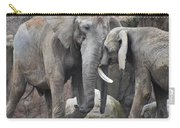 Elephants Playing 2 Carry-all Pouch