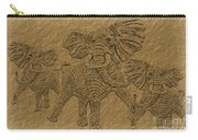 Elephants Three Carry-all Pouch