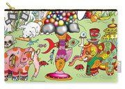 Elephants,cats And Rabbit Dreams Carry-all Pouch