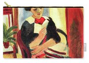 Elisabeth At Her Desk 2 By August Macke Carry-all Pouch