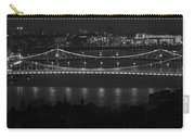 Elizabeth And Liberty Bridges Budapest Bw Carry-all Pouch