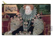Elizabeth I Armada Portrait Carry-all Pouch by George Gower