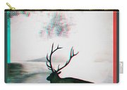 Elk - Use Red-cyan 3d Glasses Carry-all Pouch