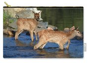 Elk Calf Crossing River 1 Carry-all Pouch