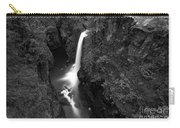 Elk Falls In The Canyon Black And White Carry-all Pouch