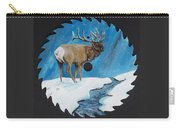 Elk In Snow Carry-all Pouch