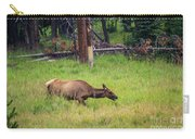 Elk In The Field Carry-all Pouch