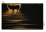 Elk In The Moonlight Carry-all Pouch by Shane Bechler