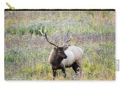 Elk In Wildflowers #1 Carry-all Pouch