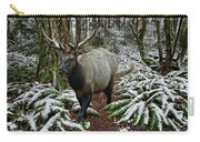 Elk In Winter Carry-all Pouch