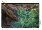 Elk Mountain Flowers Carry-all Pouch by Inge Johnsson