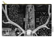 Elk Skull In Black And White Carry-all Pouch