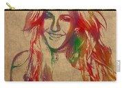 Ellie Goulding Watercolor Portrait Carry-all Pouch