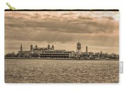 Ellis Island Panorama In Sepia Carry-all Pouch