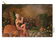 Elven Beautiful Woman With Flute Carry-all Pouch