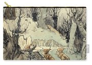 Elves In A Wood Carry-all Pouch by Arthur Rackham