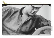 Elvis And His Bike Bw Carry-all Pouch