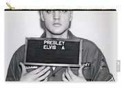 Elvis Presley Army Mugshot 1960 Carry-all Pouch