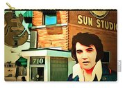 Elvis Presley The King At Sun Studio Memphis Tennessee 20160216 Square Carry-all Pouch
