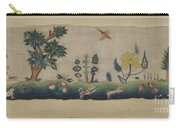 Embroidered Petticoat Border Carry-all Pouch
