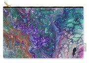 Emerald And Amethyst. Abstract Fluid Acrylic Painting Carry-all Pouch