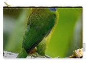 Emerald Toucanet In The Rain Carry-all Pouch