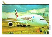 Emirates A380 Airbus Pop Art Carry-all Pouch