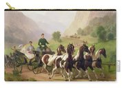 Emperor Franz Joseph I Of Austria Being Driven In His Carriage With His Wife Elizabeth Of Bavaria I Carry-all Pouch