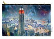 Empire State Building In 4th Of July Carry-all Pouch by Ylli Haruni
