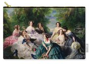 Empress Eugenie Surrounded By Her Ladies In Waiting Carry-all Pouch by Franz Xaver Winterhalter