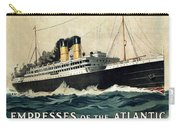 Empress Of The Atlantic - Canadian Pacific - Steamship - Retro Travel Poster - Vintage Poster Carry-all Pouch