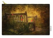 Empty Bench And Poppies Carry-all Pouch