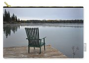 Empty Chair On Autumn Morning Carry-all Pouch