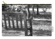 Empty Park Bench Carry-all Pouch