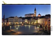 Empty Tartini Square In Piran Slovenia With Courthouse, City Hal Carry-all Pouch