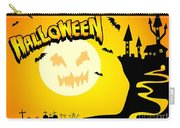 Enchanted Castle Over The Zombies Cemetery In Halloween Night Carry-all Pouch