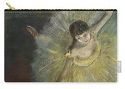 End Of An Arabesque Carry-all Pouch by Edgar Degas