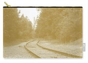 End Of The Rail-sepia Carry-all Pouch